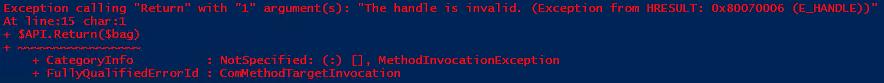 Powershell ISE SCOM Script Error